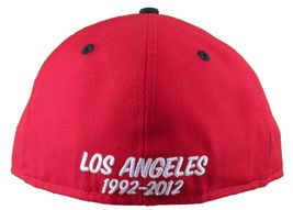 Dissizit! LA Hands 9212 New Era Fitted Cap Red/Wht Pinstripe Hat Baseball image 4