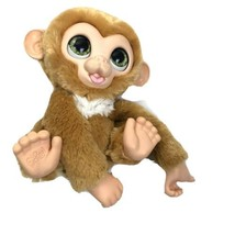 "Hasbro FurReal Monkey  Zandi Plush 9"" 2017 E0367 Green Eyes Makes Sounds - $16.82"