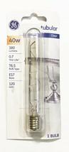 GE Lighting T6-1/2 Tubular Refrigerator Appliance Bulb Clear 40w E17 120v 1 Bulb - $8.65