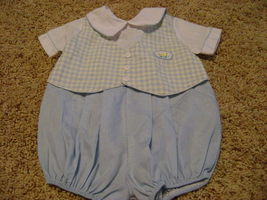 CARRIAGE BOUTIQUE BOYS INFANT SIZE 6 MONTHS SMOCKED - $8.66