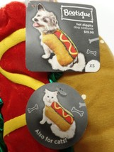 "Bootique Hot Dog Cat Pet Diggity Costume XS Halloween New 11-13"" 2688216... - $9.99"
