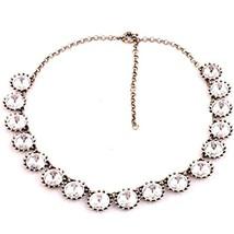 White Crystal Venus Flytrap Necklace - $24.09