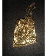 Whiting & Davis Gold Mesh Shimmering Wristlet Purse - Vintage - $12.95