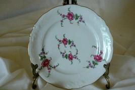"""Wawel Rose Garden Bread Plate 6 3/4"""" - $3.37"""