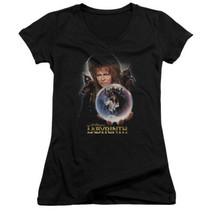 Labyrinth Movie Advance Poster Image Baby Doll/Juniors V Neck T-Shirt NE... - $19.99