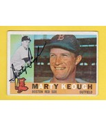 MARTY KEOUGH AUTOGRAPHED CARD 1960 TOPPS BOSTON RED SOX - $4.48
