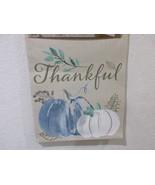 Autumn RadianceFall Thanksgiving Beige Blue Pumpkin Fabric Table Runner ... - $26.99