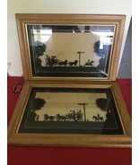 2 Vintage Framed EGLOMISE Reverse Painting on Glass The London and Oxfor... - $100.00