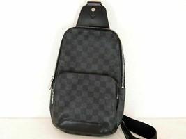 HS3590 Louis Vuitton Damier Gras fit Avenue sling bag body bag N41719 - $1,309.34
