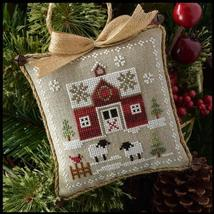 Little Red Barn #1 Farmhouse Series cross stitch chart Little House Needleworks  - $5.40