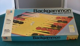Backgammon And Acey-Deucy Milton Bradley Complete Contents VGC - $8.00