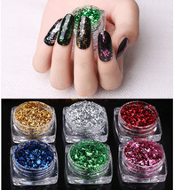 Chameleon Magic Mirror Powder Nail Art Flakes Glitter Color Changing Brush - $5.99