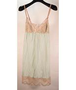Eberjey Chemise Orianna Slip Baby Blue Beige Lace S/P New - $69.30