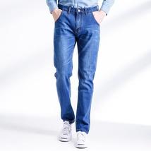 Vintage men's jeans nostalgia Brand new men jeans, casual jeans, pure color image 3