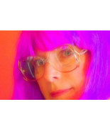 Vintage Salmon Pink and Gold Eyeglass Frames, Womens Funky Metal Glasses - $32.00