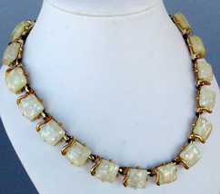 Vintage Coro Lucite Confetti Necklace - $25.00