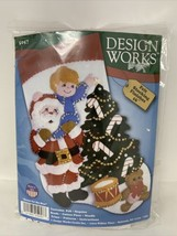 Felt Embroidery Kit Design Works Reach For The Star Christmas Stocking #DW5057 - $15.00