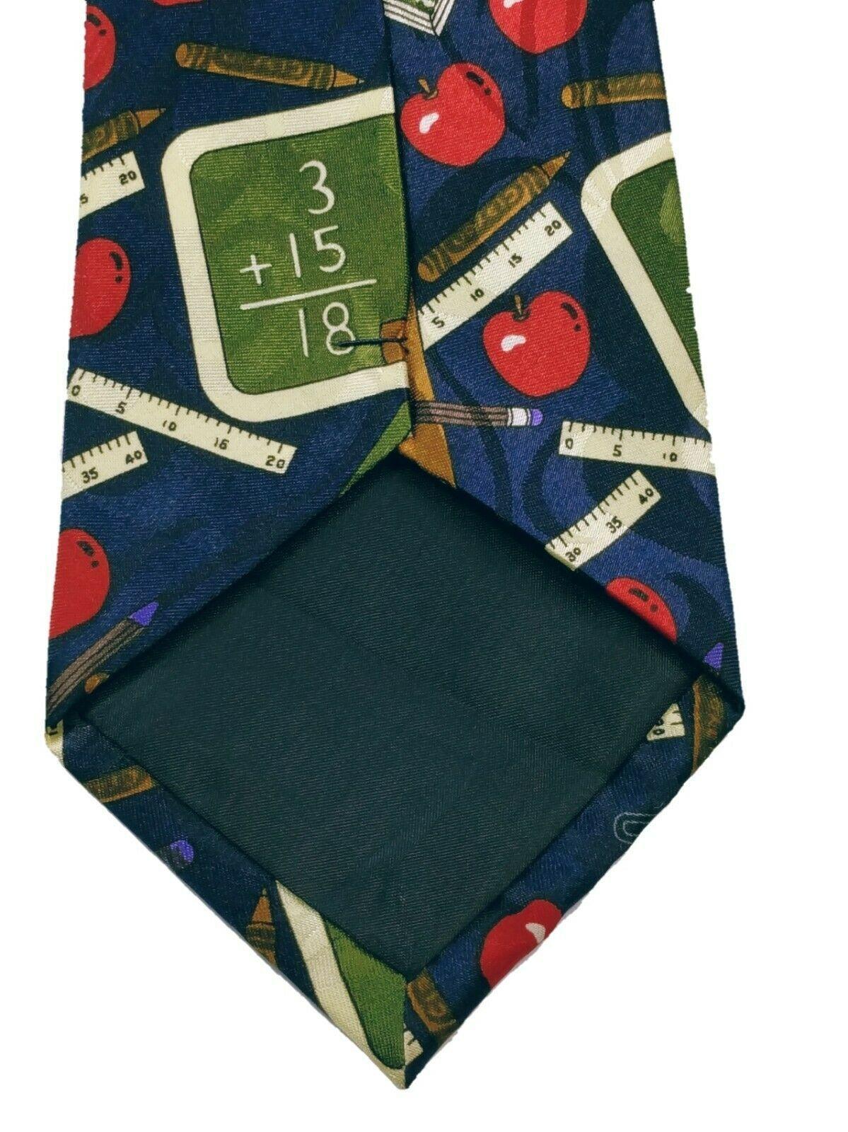 Fratello Men's School Days Teacher Math Ruler Composition Necktie Novelty image 6