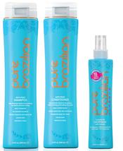 PURE BRAZILIAN - 3 Piece: Anti-Frizz Shampoo, Conditioner, Miracle Conditioner