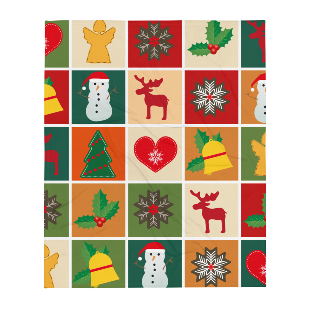 Cool Throw Blanket Christmas Pattern Holidays 2020