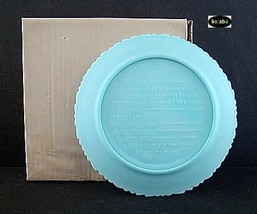 Fenton Blue Satin 1971 Mothers Day Plate Mib No. 1 image 2