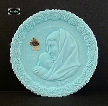 Fenton Blue Satin 1971 Mothers Day Plate Mib No. 1 - $9.95