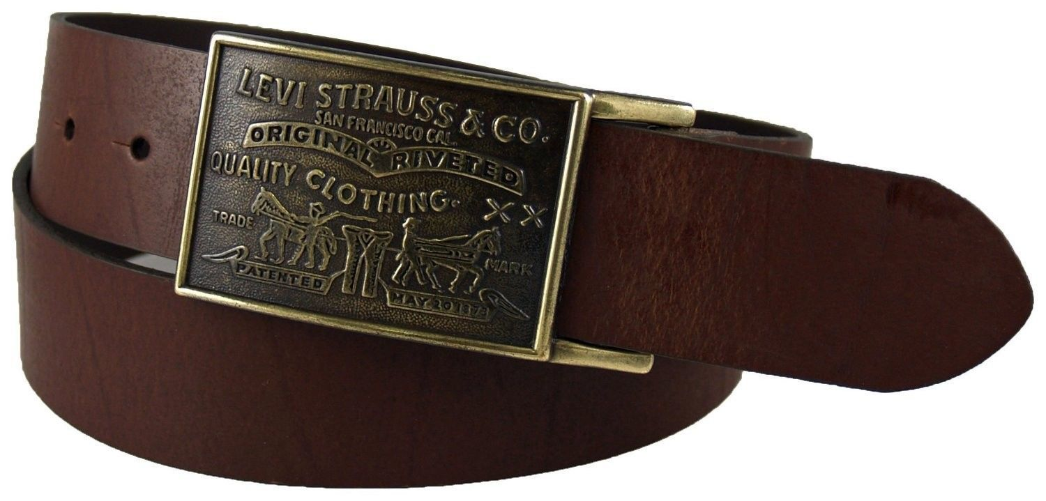 NEW NWT LEVI'S MEN'S STYLISH PREMIUM GENUINE LEATHER BELT BROWN 11LV0253