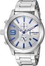 Diesel DZ4452 Rasp Silver Chronograph Mens Watch - $177.53 CAD