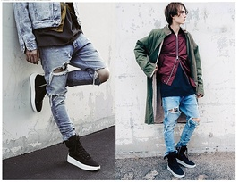 jeans men fear of god brand ripped jeans for men hot high quality zipper fashion image 6