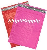 2-500 #0 6x10 Poly ( Pink & Red ) Color Bubble Padded Mailers Fast Shipping - $3.49+