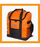 Orange Lunch Bag Cooler Backpack Insulated Portable Beer Wine 35L Picnic... - $42.00