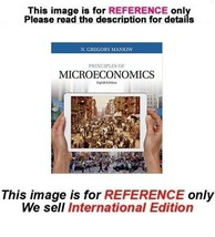 Principles of Microeconomics by N. Gregory Mankiw, 8th (International Ed... - $59.90