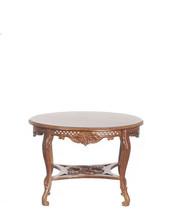 DOLLHOUSE MINIATURE 1:12 SCALE WALNUT KENSINGTON ROUND TABLE #J13102WN - $58.83