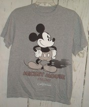 Disney T Shirt Sz M Mickey Mouse Birthday 1928 California 2 Sided Gray S... - $15.97