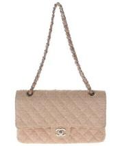 Auth CHANEL Shoulder Bag Pink Matelasse CHANEL Classic Flap Tweed Medium... - $2,165.13