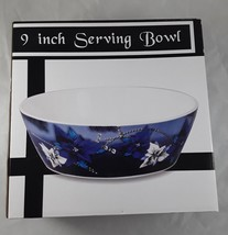 "9"" Serving Bowl Blue and White Flowers - $20.00"