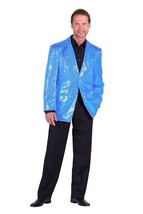 Gents 2017 style Sequinned Cabaret Jackets - turquoise - $73.01
