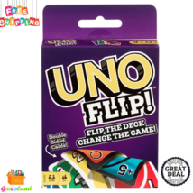 UNO FLIP Double Sided Card Game Challenging Exciting 2 to 10 Players 112... - $9.99