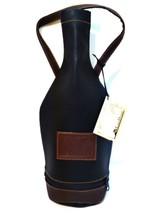 Wine Carrier Louis Dionne 750 ml Bottle Soft Faux Leather Black Zipper B... - $153,82 MXN