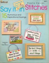 15 Plastic Canvas Humorous Inspirational Magnets Wall Hangings Pictures Pattern - $12.99