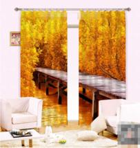 3D River Bridge Blockout Photo Curtain Printing Curtains Drapes Fabric Window AU - $130.83+