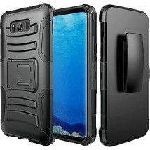 Galaxy S8 Plus Case , [ Anti-Scratch ] Hard&Soft Rubber Defender Kicksta... - $7.99