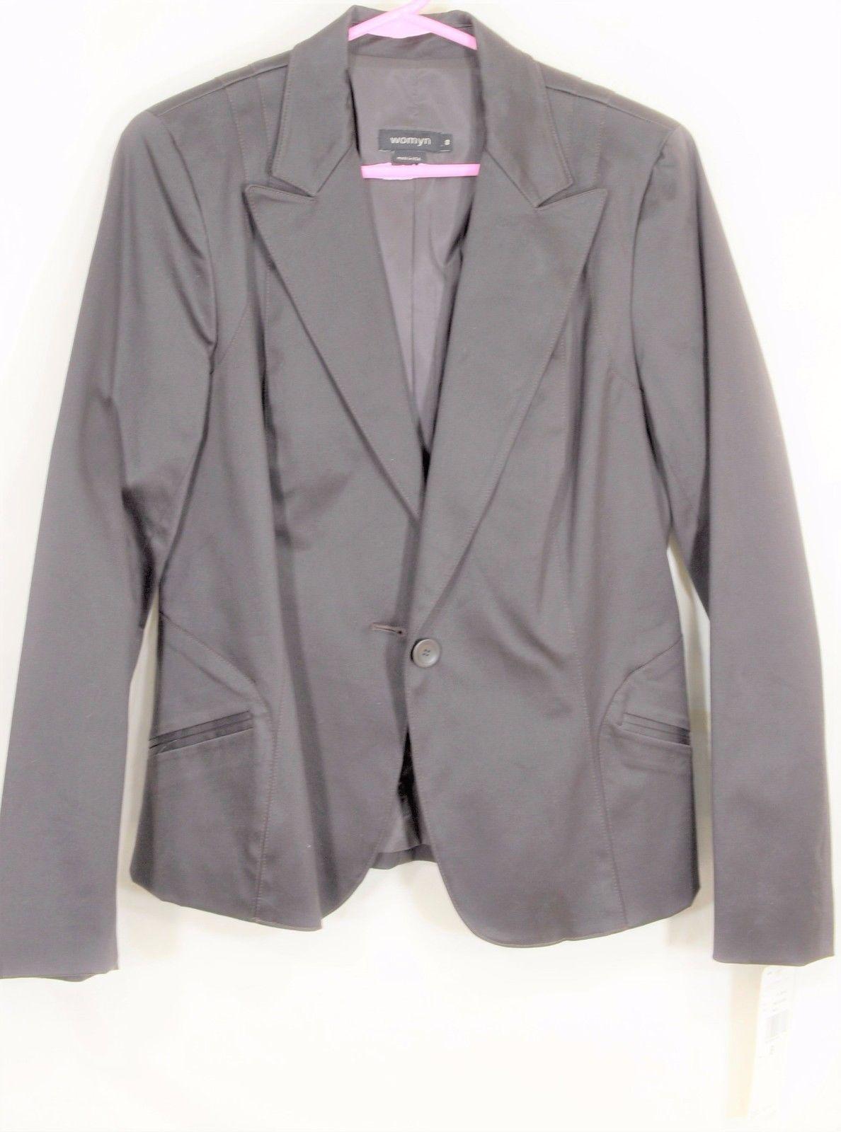 womyn jacket coat NWT SZ 8 dark brown 1-button closure lined NYC USA new image 10
