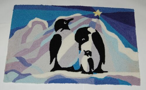 Homefires 546624 Susan Rooney Penguins At Night Area Rug 22 by 34 Inches
