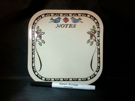 Trinity Pottery Handcrafted Message Board with Marker - Excellent Item! - $4.99