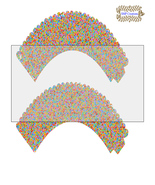 CupCake Wrapper10-Digital Clipart-Holiday-Gift Tag-Digital Paper-Party - $2.00