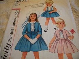 Vintage Girls' Skirt, Blouse & Jacket Pattern Simplicity 4871 - $10.00
