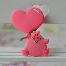 Cute heart pig Fridge Magnets For Kids Decorative - $9.95