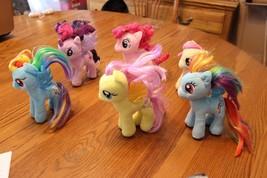 "My Little Pony TY 7"" plush lot Aurora lot of 6 blue yellow pink purple rainbow - $16.95"