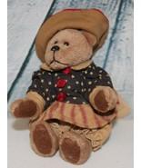 Dark brown patriotic teddy bear - $19.79